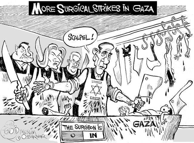 Khalil Bendib Gaza Cartoons