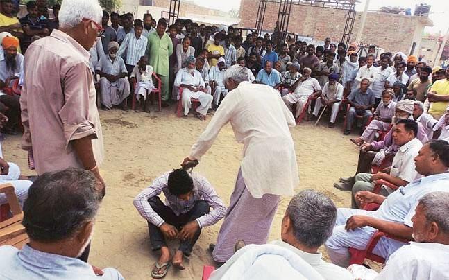 Khap Haryana Khap panchayat orders shoeslap justice in molestation case