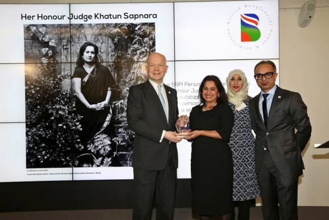 Khatun Sapnara Judge Khatun Sapnara named BBPI Person of the Year From Asian Image