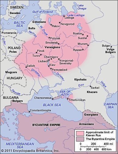 Kievan Rus' Kievan Rus historical state Britannicacom
