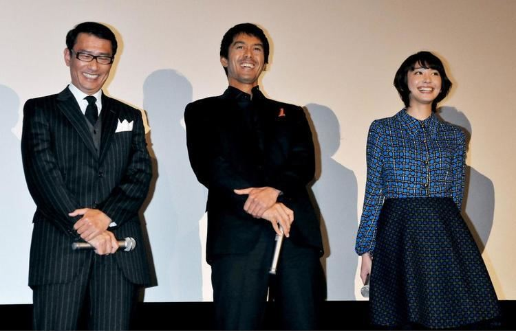 Kiichi Nakai LR Director Nobuhiro Doi actress Rena Tanaka actor Kiichi Nakai