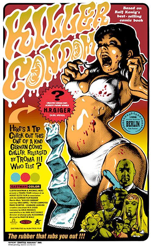 Killer Condom KILLER CONDOM ART POSTER BY ROCKIN JELLY BEAN WeBringJustice
