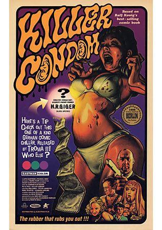 Killer Condom Killer Condom Japanese movie poster B5 Chirashi