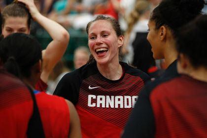 Kim Gaucher Team Canada guard Kim Gaucher happy to see women39s