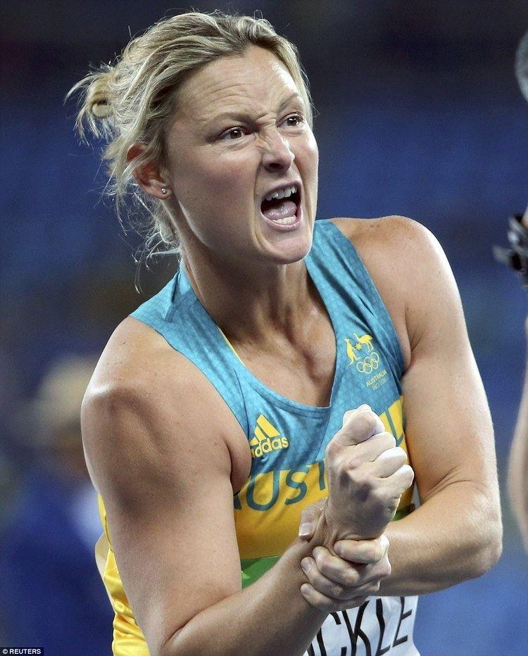 Kim Mickle Kim Mickle Australia39s javelin thrower dislocates shoulder during