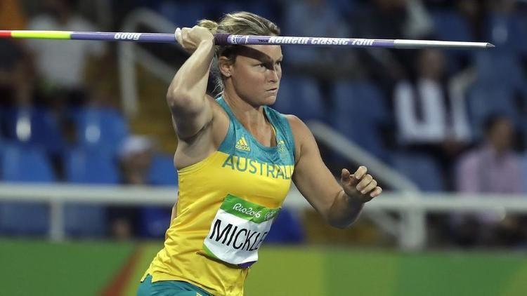 Kim Mickle Kim Mickle shoulder injury in javelin Rio Games Herald Sun