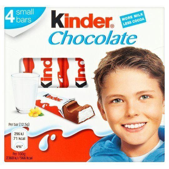 Kinder Chocolate Kinder Chocolate 4 Pack 50G Groceries Tesco Groceries