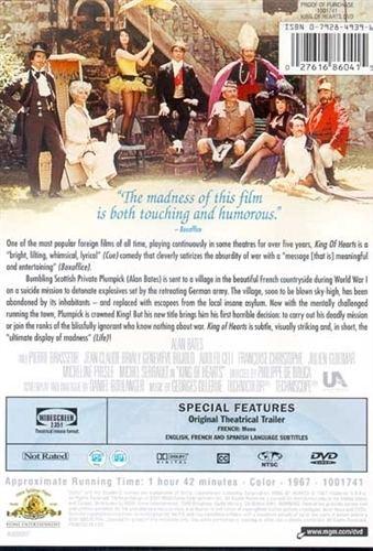 King of Hearts (1966 film) King Of Hearts DVD 1966 Alan Bates 599 R1 USA BUY NOW RareDVDsBiz
