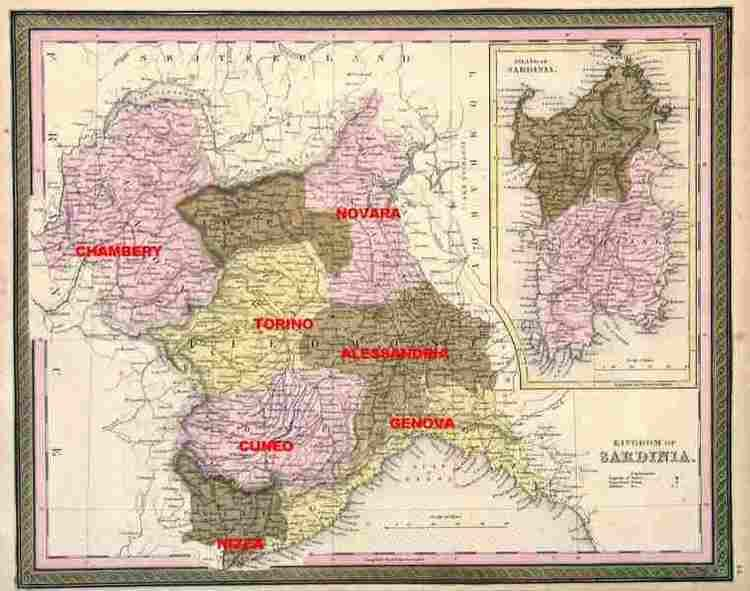 Kingdom of Sardinia Italian Hallmarks Kingdom of Sardinia Piedmont