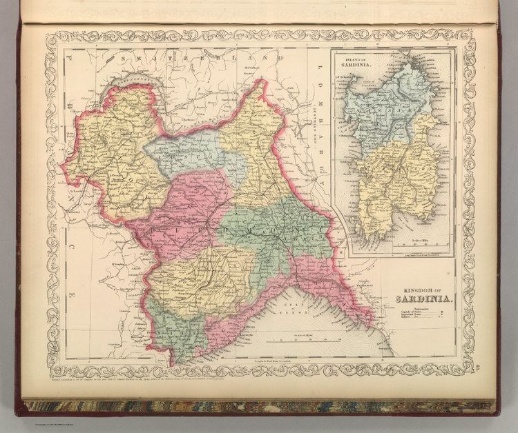Kingdom of Sardinia Kingdom of Sardinia David Rumsey Historical Map Collection