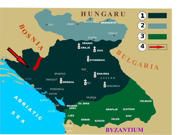 Kingdom of Serbia FileKingdom of Serbia at the end of the XIII century and early
