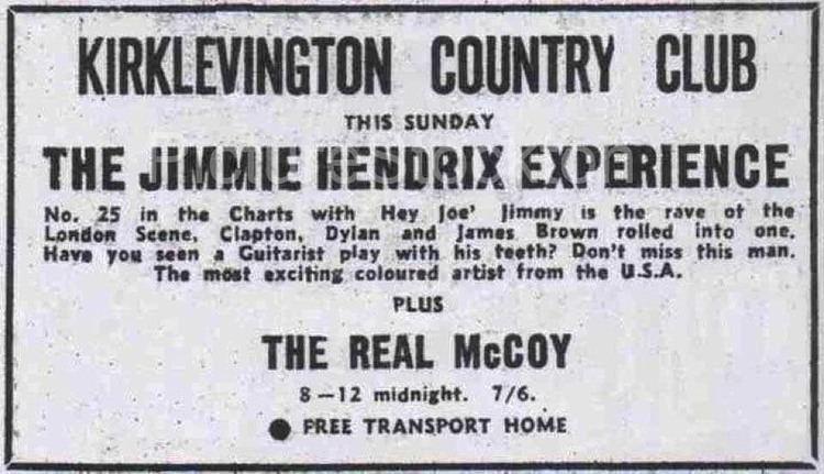 Kirklevington Country Club Jimi Hendrix at the Kirk c1967 Picture Stockton Archive