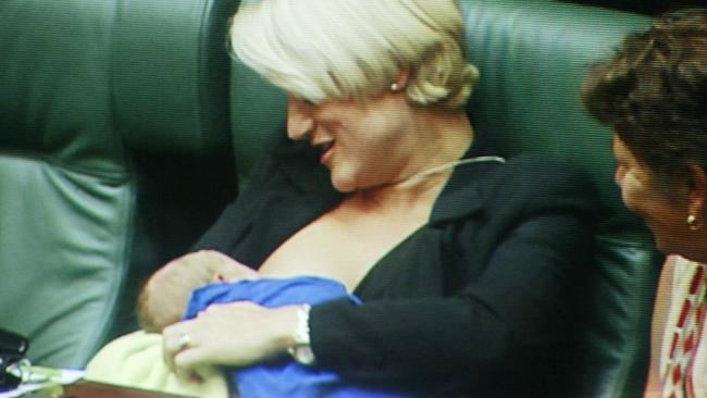 Kirstie Marshall New rules allow breastfeeding in federal Parliament Herald Sun