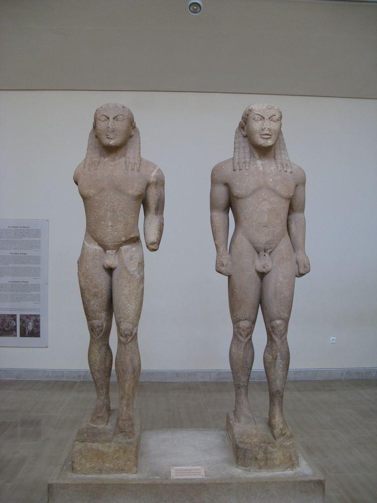 Kleobis and Biton FileKleobis and Biton statuejpg Wikimedia Commons