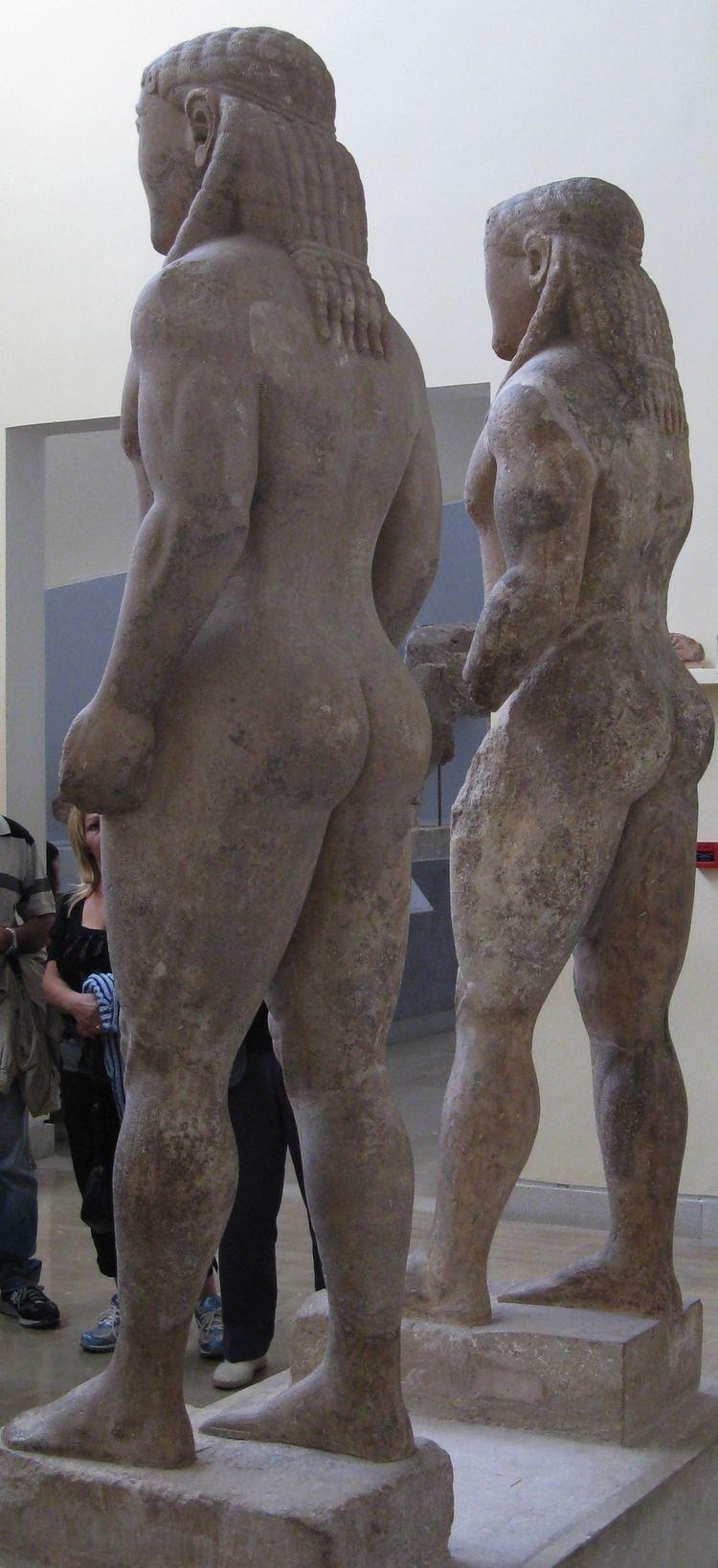 Kleobis and Biton FileKleobis and Biton statue3jpg Wikimedia Commons