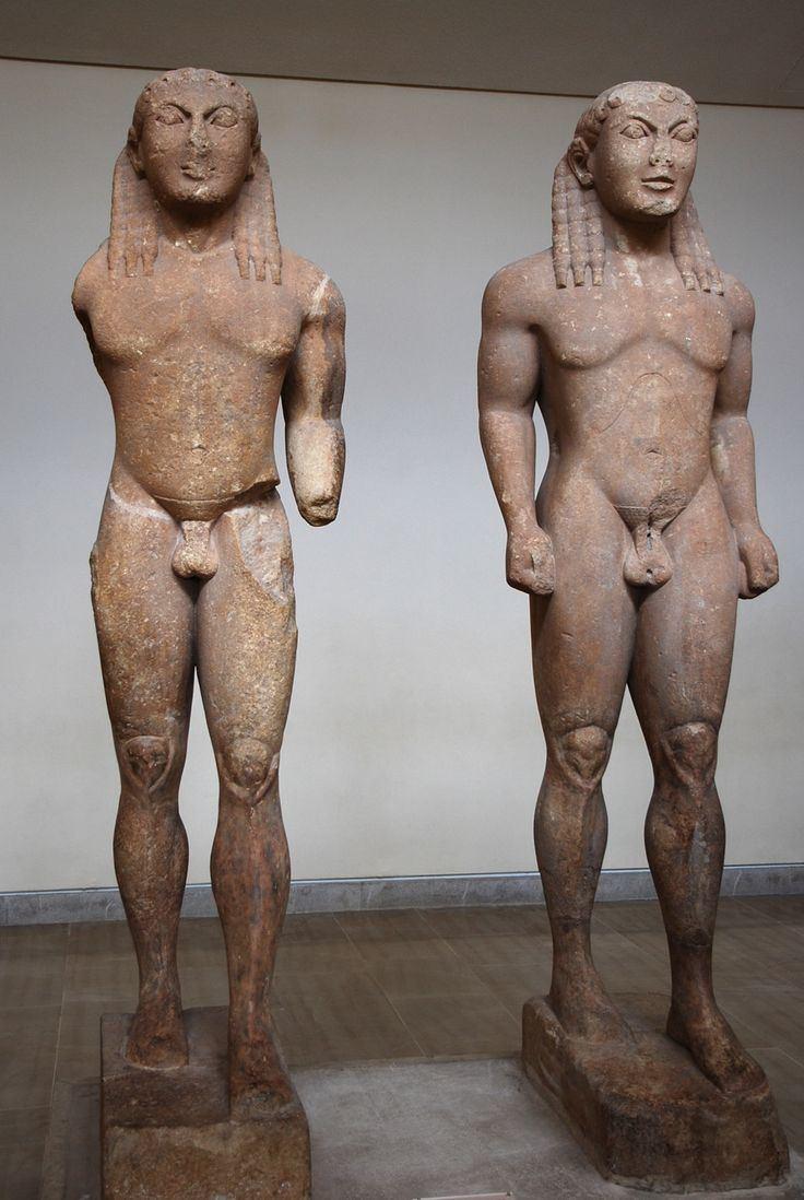 Kleobis and Biton Kleobis and Bitonquot Delphi c 580570 BC Greek Sculpture