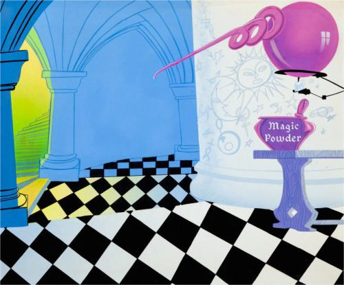 Knight-mare Hare Production background KnightMare Hare WB 1955 ANIMATION