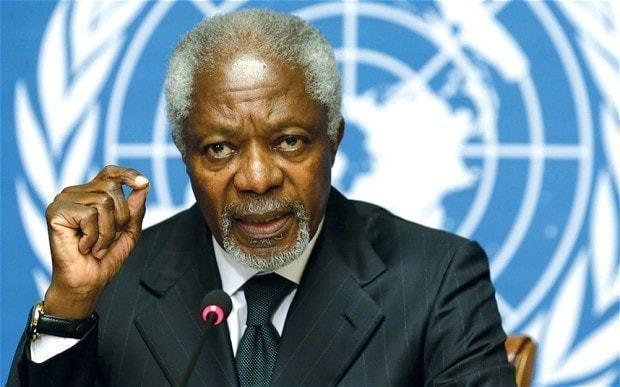 Kofi Annan Syria Kofi Annan attacks UN Security Council for 39finger