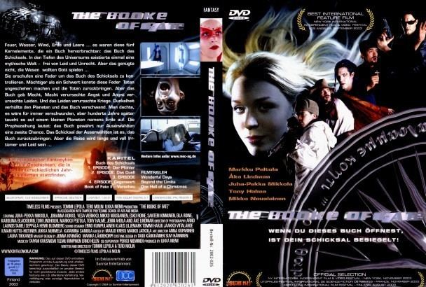 Kohtalon kirja The Book of Fate Kohtalon kirja dvd cover 2003 R2 German