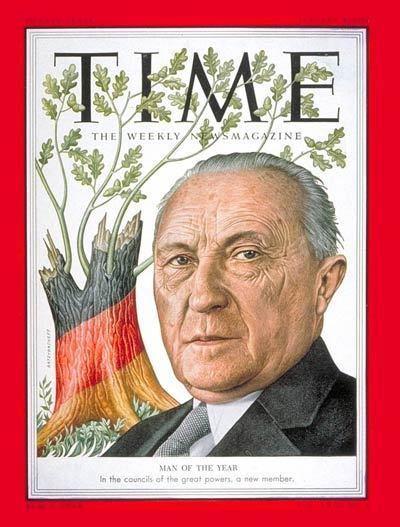 Konrad Adenauer TIME Magazine Cover Konrad Adenauer Man of the Year
