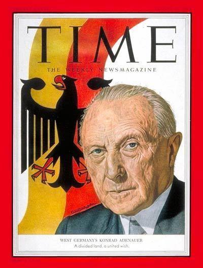 Konrad Adenauer TIME Magazine Cover Konrad Adenauer Aug 31 1953