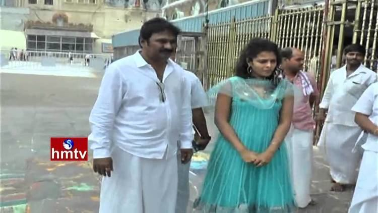 Krishna Bhagavaan Krishna Bhagavaan and Actress Sonia Deepti Visits Tirumala Temple
