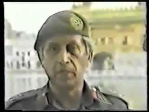 Kuldip Singh Brar Operation Blue Star Major General Kuldip Singh Brar