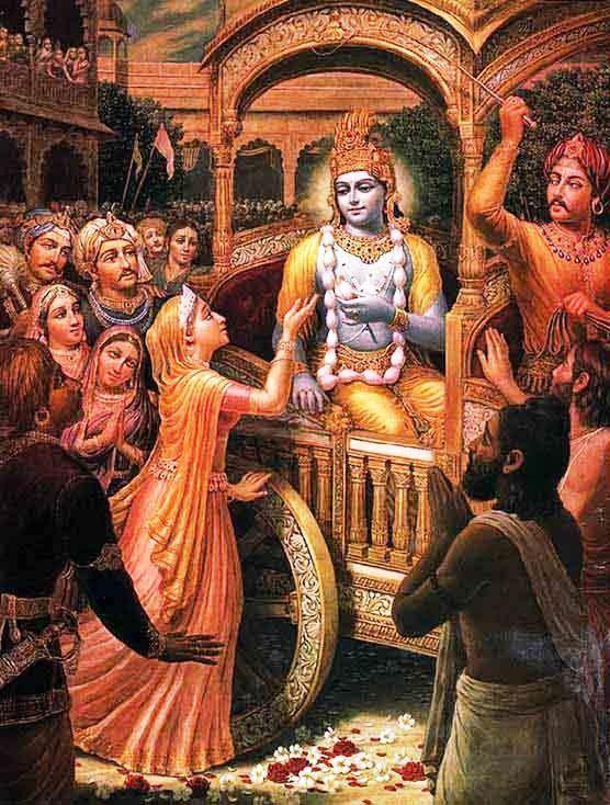 Kunti Prayers by Queen Kunt Slokas The Hare Krishna Movement