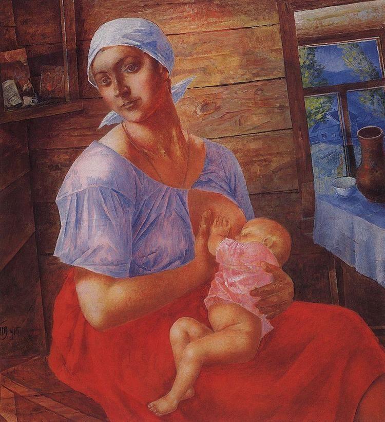Kuzma Petrov-Vodkin Mother Kuzma PetrovVodkin WikiArtorg