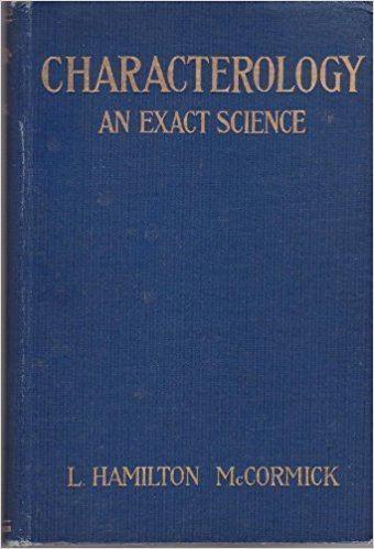 L. Hamilton McCormick Characterology L McCormick 1920 L Hamilton McCormick Amazon