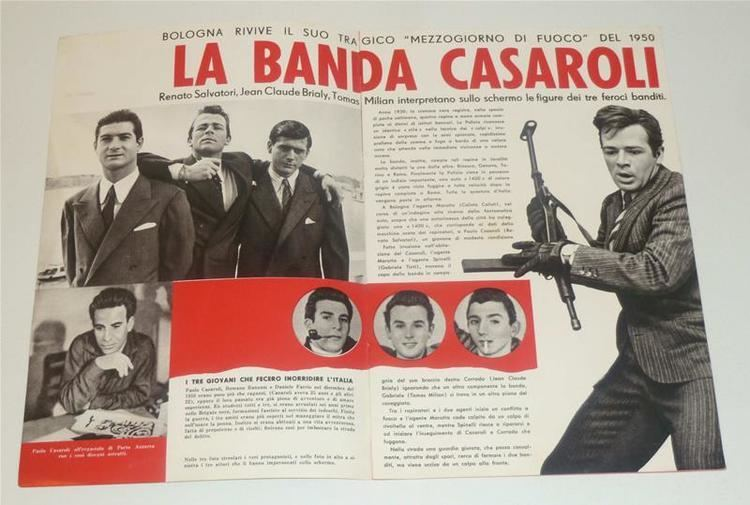 La banda Casaroli brochure LA BANDA CASAROLI di Florestano Vancini 1962 Tomas Milian R