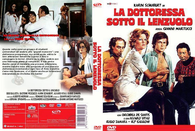 La dottoressa sotto il lenzuolo Copertina dvd La Dottoressa Sotto Il Lenzuolo cover dvd La
