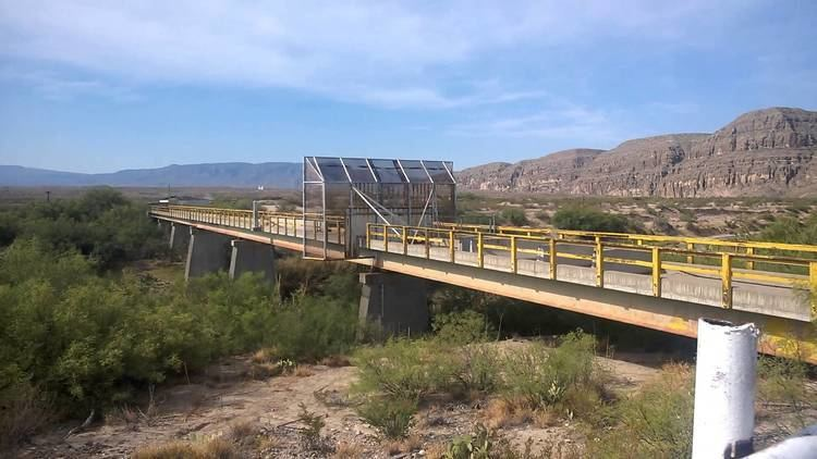 La Linda International Bridge La Linda ghost town and bridge into Mexico YouTube