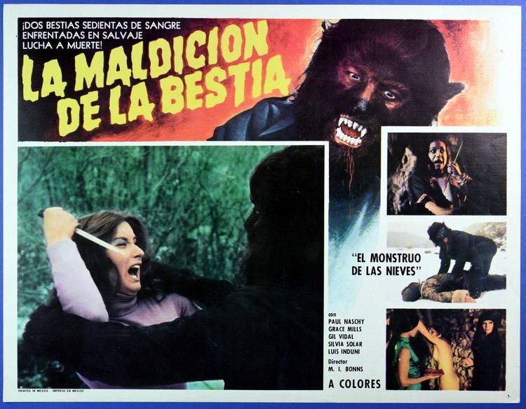 La Maldicion de la Bestia La Maldicion De La Bestia 1975 Mexican Lobby Card From Zombos