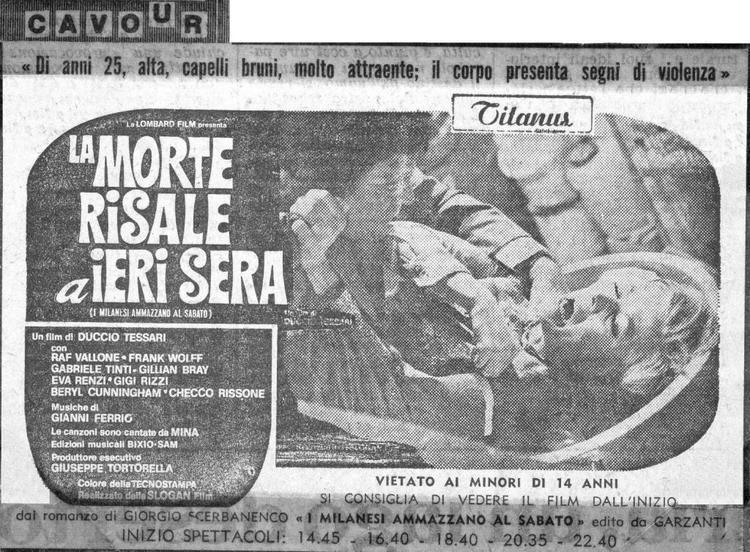 La morte risale a ieri sera LA MORTE RISALE A IERI SERA 1970