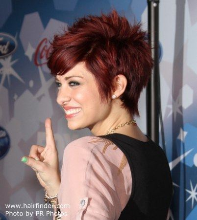 Lacey Brown Lacey Brown39s short hair with choppy and slithered ends