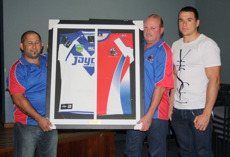 Lachlan Burr Lachlan Burr NRL Bulldogs Jersey Presentation Revesby