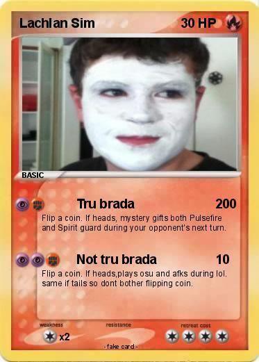 Lachlan Sim Pokmon Lachlan Sim Tru brada My Pokemon Card