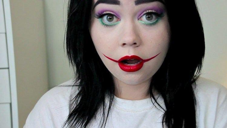 Lady Joker LADY JOKER Halloween Makeup Tutorial YouTube