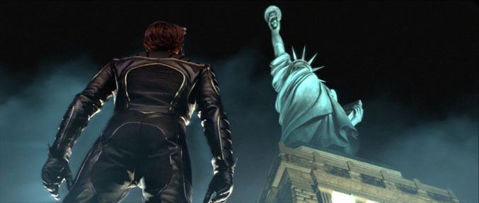 Lady Liberty (film) movie scenes The climactic scenes of this comic book action movie take place on the top of Liberty s head Wolverine is trying to save Rogue defeat Magneto