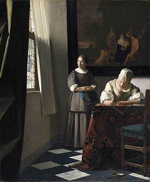Lady Writing a Letter with her Maid httpsuploadwikimediaorgwikipediacommonsthu