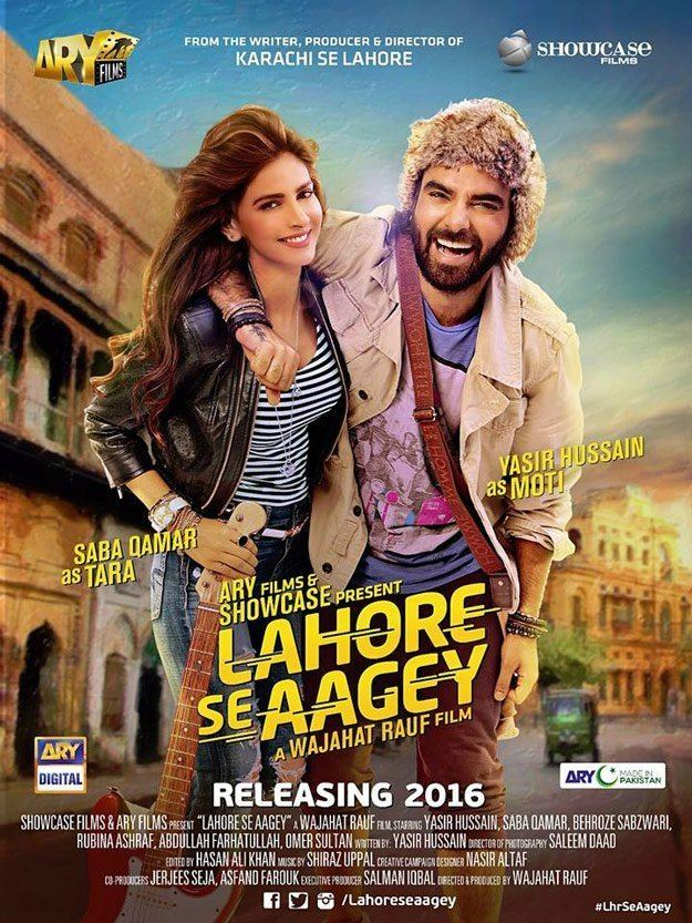 Lahore Se Aagey Lahore Se Aagey poster Saba Qamar Yasir Hussain all set for a fun