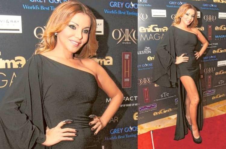 Laila Elwi Bassem Yousuf Laila Elwi Yousra and other Arab stars at Enigma