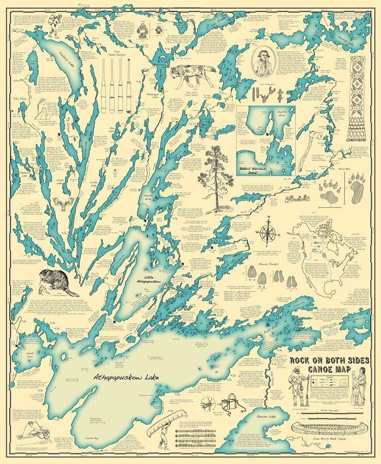 Lake Athapapuskow Illustrated historical map of Lake Athapapuskow Imgur