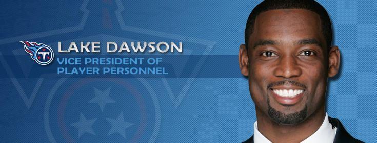 Lake Dawson Dolphins interview Titans executive Lake Dawson for GM job