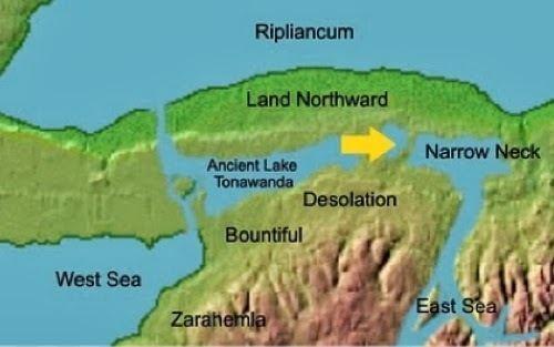 Lake Tonawanda NephiCode Could the Great Lakes be the Narrow Neck of Land Part II