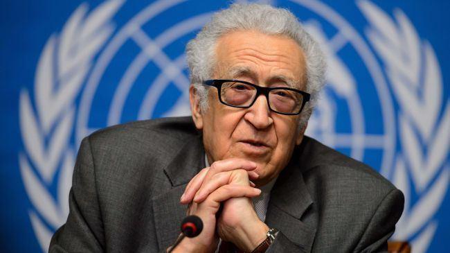 Lakhdar Brahimi PressTV Russia urges UNArab League envoy to be unbiased