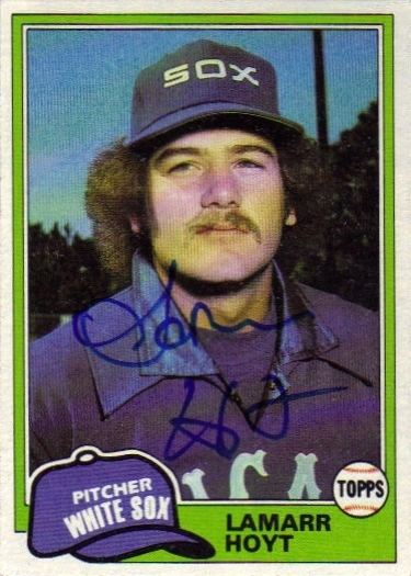 LaMarr Hoyt ChiSox Collector Project Rookie Card LaMarr Hoyt 1981