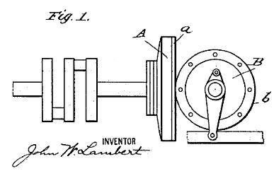 Lambert friction gearing disk drive transmission