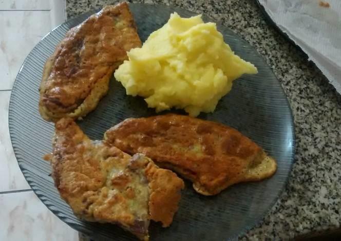 Lampreado Lampreado Escalopes de carne con pur Receta de Eli Borquez